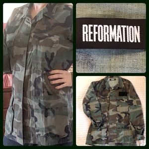 Reformation Camo Jacket *One of a Kind* NWT